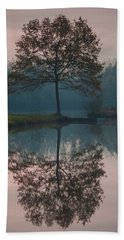 Beach Towel featuring the photograph Two Loners by Davor Zerjav