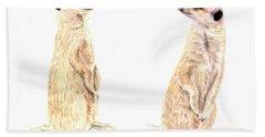 Two Meerkats Beach Towel