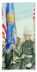 Two Months After 9-11  Veteran's Day 2001 Beach Towel