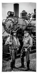 Two Outlaws And Steam Train Beach Towel