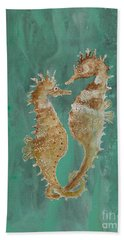 Two Seahorse Lovers Beach Sheet