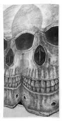 Beach Towel featuring the photograph Two Skulls ... by Juergen Weiss