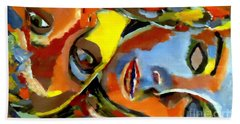 Beach Towel featuring the painting Two Souls by Helena Wierzbicki
