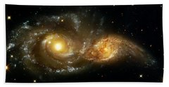 Two Spiral Galaxies Beach Towel