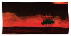 Two Trees In Tuscany Beach Towel