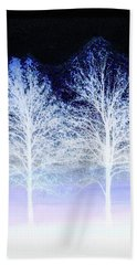 Two Trees In Winter Beach Towel