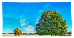 Two Trees On The Illinois Prairie Beach Towel