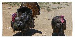 Two Turkeys Beach Towel by Joseph Frank Baraba