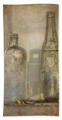 Two Vintage Bottles Beach Sheet