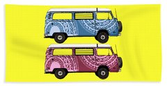 Two Vw Vans Beach Towel