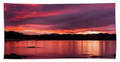 Twofold Bay Sunset Beach Towel
