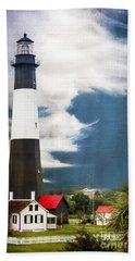 Beach Towel featuring the photograph Tybee Island by Judy Wolinsky