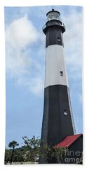 Tybee Island Lighthouse Beach Towel by Judy Wolinsky