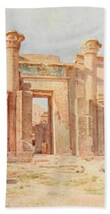 Tyndale, Walter 1855-1943 - Below The Cataracts 1907, The Ptolemaic Pylon, Medinet Habu Beach Towel