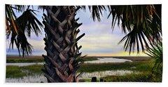 Typically Coastal Beach Towel by Laura Ragland