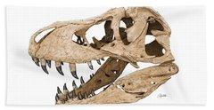 Tyrannosaurus Skull Beach Towel