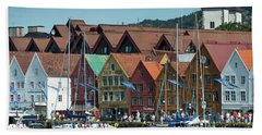 Tyske Bryggen Beach Towel