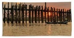 U-bein Bridge Beach Sheet by Werner Padarin