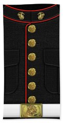U S M C Dress Uniform Beach Towel by Serge Averbukh