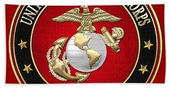 U. S. Marine Corps - U S M C Emblem Special Edition Beach Towel