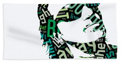 U2 Bono With Or Without You Beach Towel