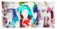 U2 Grunge Beach Towel by Daniel Janda