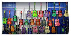 Beach Sheet featuring the photograph Ukuleles At The Fair by Lori Seaman