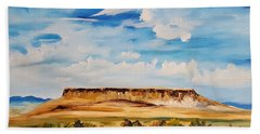 Ulm Montana First People's Buffalo Jump   93 Beach Towel