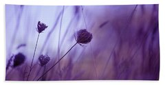 Ultra Violet Botanical Beach Towel