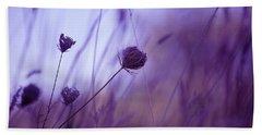 Ultra Violet Botanical Beach Sheet