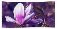 Ultra Violet Magnolia  Beach Towel