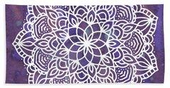 Beach Towel featuring the digital art Ultraviolet Mandala by Bee-Bee Deigner