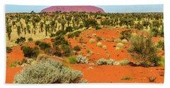 Beach Towel featuring the photograph Uluru 01 by Werner Padarin