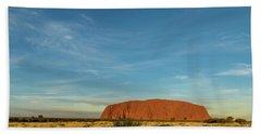 Beach Towel featuring the photograph Uluru Sunset 01 by Werner Padarin