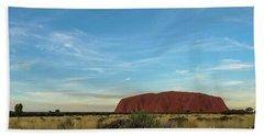 Beach Towel featuring the photograph Uluru Sunset 02 by Werner Padarin