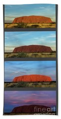 Uluru Sunset Beach Towel