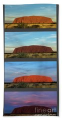 Beach Towel featuring the photograph Uluru Sunset by Werner Padarin