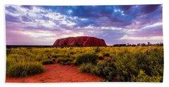 Beach Towel featuring the photograph Uluru by Ulrich Schade
