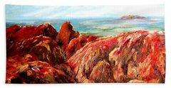 Uluru Viewed From Kata Tjuta Beach Towel