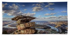 Umbrella Rock Overlooking Moccasin Bend Beach Towel