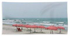 Umbrellas Waiting Beach Sheet