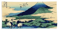 Umegawa In Sagami Province, One Of Thirty Six Views Of Mount Fuji Beach Sheet by Hokusai