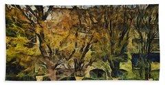 Un Cheteau Dans Le Paradis - Two Of Two  Beach Sheet by Sir Josef - Social Critic -  Maha Art