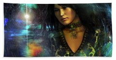 Beach Towel featuring the digital art Una   ...   Remember by Shadowlea Is
