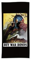Uncle Sam - Buy War Bonds Beach Towel