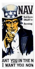 Uncle Sam Wants You In The Navy Beach Towel