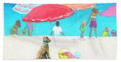 Under A Red Umbrella Beach Towel