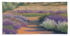 Under A Summer Sun In Lavender Fields Beach Towel