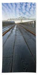 Under Astoria Megler Bridge On Riverwalk Beach Towel