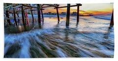 Under Cherry Grove Pier 2 Beach Towel